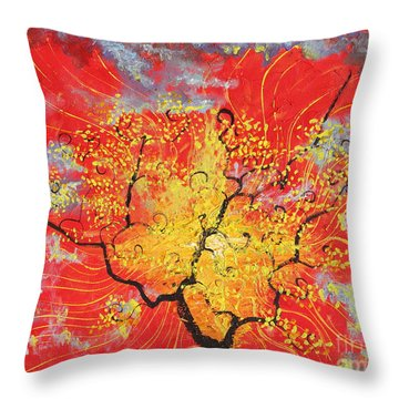 Embracing The Light Throw Pillow