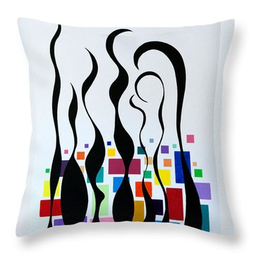 Embracing Throw Pillow