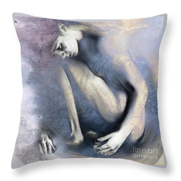 Embryonic II. Textured Square Throw Pillow