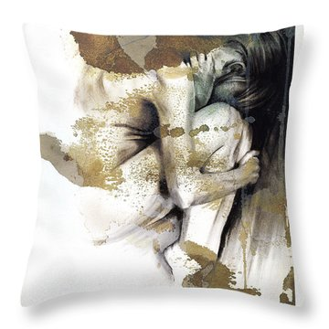 Embryonic IIi With Texture Throw Pillow by Paul Davenport