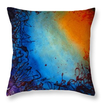 Throw Pillow featuring the painting Embryonic Journey by Stuart Engel
