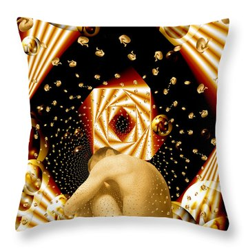 Embryonic Voyage Throw Pillow