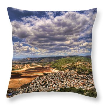 Emek Israel Throw Pillow
