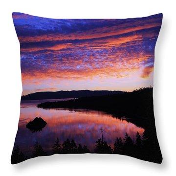 Emerald Bay Awakens Throw Pillow