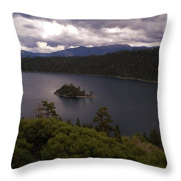 Emerald Bay Lake Tahoe Throw Pillow