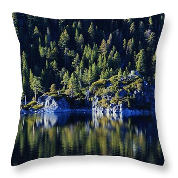Throw Pillow featuring the photograph Emerald Bay Teahouse by Sean Sarsfield