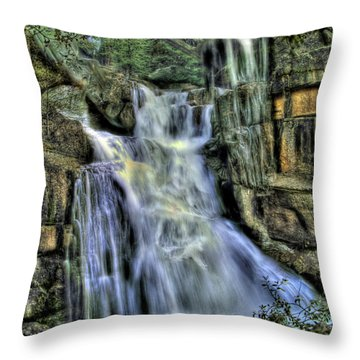 Emerald Cascade Throw Pillow