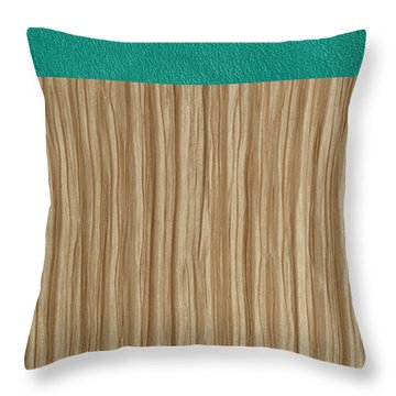 Emerald Cashmere Throw Pillow by Margaret Ivory