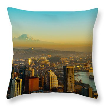 Emerald City Shining Bright Throw Pillow