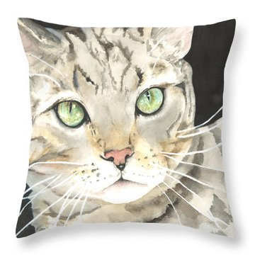 Emerald Eyes Throw Pillow by Kimberly Lavelle