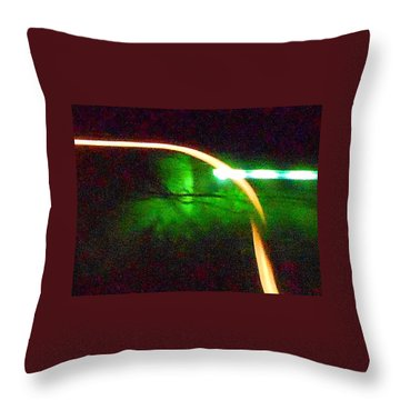 Emerald Fusion Throw Pillow