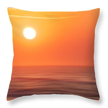 Emerald Isle Sunrise Throw Pillow