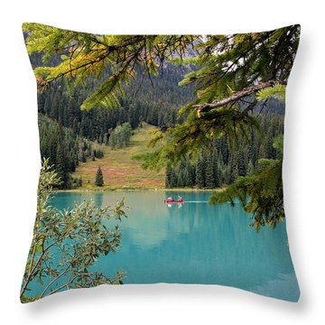Emerald Lake British Columbia Throw Pillow