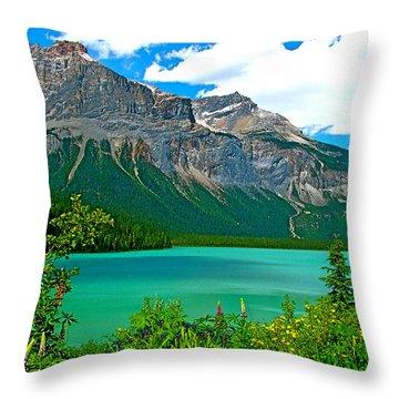 Emerald Lake In Yoho Np-bc Throw Pillow
