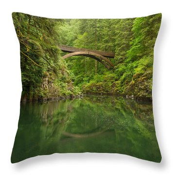 Emerald Reflections Throw Pillow by Patricia Davidson