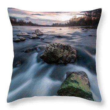 Emerald Rock Throw Pillow by Davorin Mance
