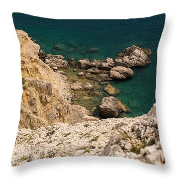Emerald Sea Throw Pillow by Davorin Mance