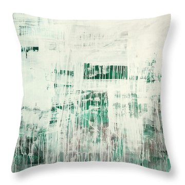 Emerald Surge C2014 Throw Pillow by Paul Ashby