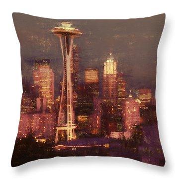 Emerald Twilight Throw Pillow