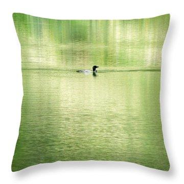 Emerald Water Throw Pillow by Ramona Johnston