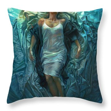 Emerge Lighter Version Throw Pillow