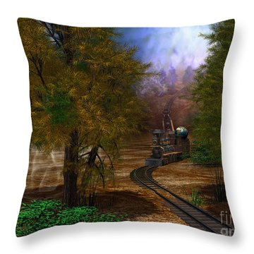 Emergence Throw Pillow by Shari Nees