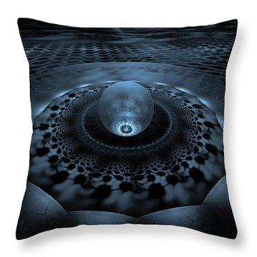 Emergence1 Throw Pillow by GJ Blackman