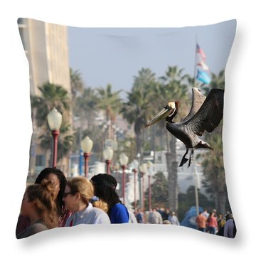 Throw Pillow featuring the photograph Emergency Landing  by Christy Pooschke