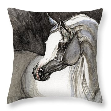 Emerging From The Darkness Throw Pillow by Angel  Tarantella