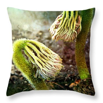 Emerging Sprouts Throw Pillow