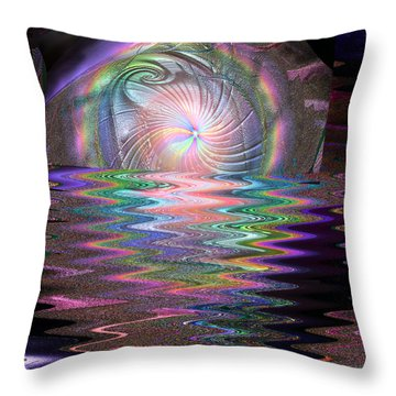 Emerging World Throw Pillow by Michael Durst