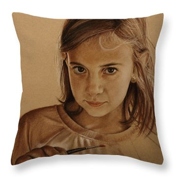 Emerging Young Artist Throw Pillow