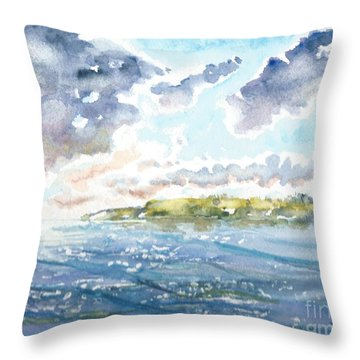 Emerging Sun  Throw Pillow