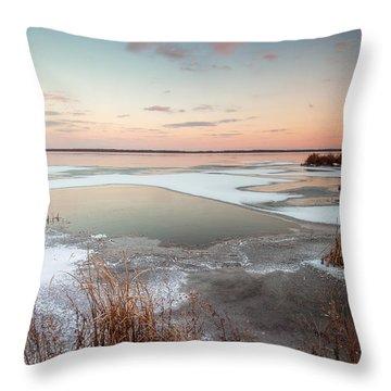 Emiquon Sunset Throw Pillow