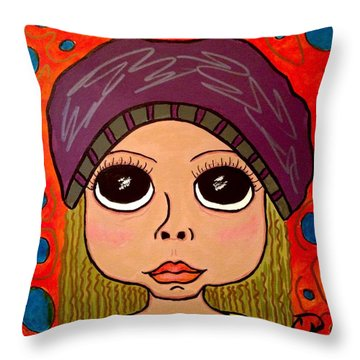 Emma Throw Pillow by Chrissy  Pena