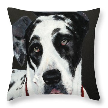 Throw Pillow featuring the painting Emma by Mary Lynne Powers