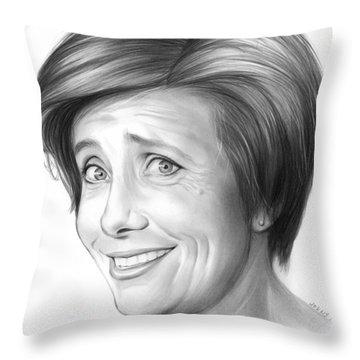 Emma Thompson Throw Pillow by Greg Joens