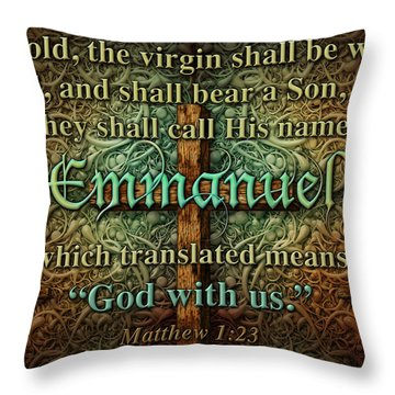 Emmanuel God With Us Throw Pillow