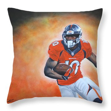 Emmanuel Sanders Throw Pillow