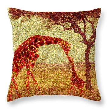 Emma's Giraffe Throw Pillow by Jack Zulli