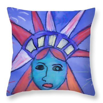 Emma's Lady Liberty Throw Pillow by Alice Gipson