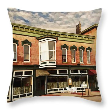Emmitt House At Emmitt Avenue Throw Pillow by Jaki Miller