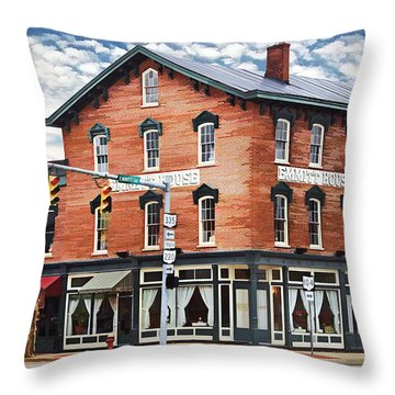 Emmitt House Corner Throw Pillow by Jaki Miller