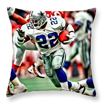 Emmitt Smith Throw Pillow