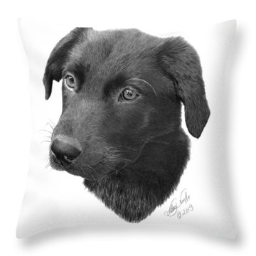 Emmy - 019 Throw Pillow by Abbey Noelle