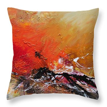 Throw Pillow featuring the painting Emotion 2 by Ismeta Gruenwald