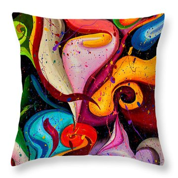 Modern Colorful Abstract  Throw Pillow