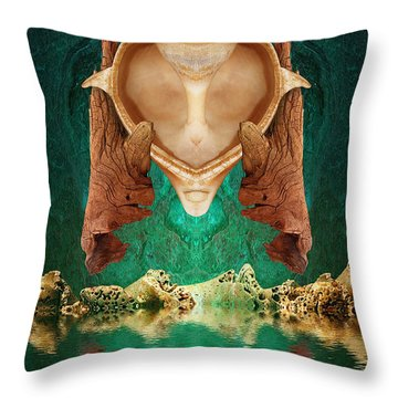 Emotional Support Throw Pillow by WB Johnston
