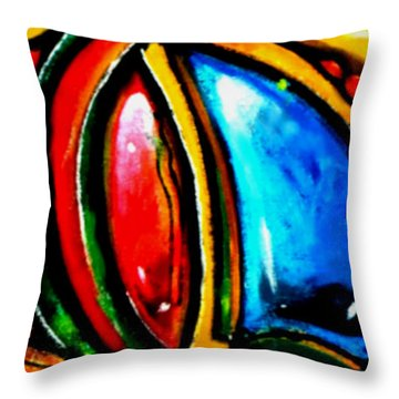 Emotional Touching Throw Pillow by Marcello Cicchini