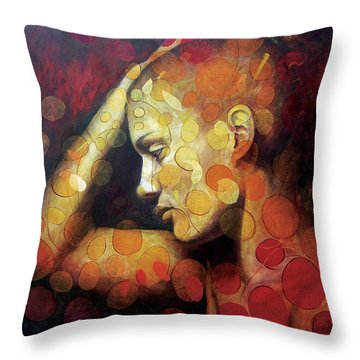 Emotions Throw Pillow by Karina Llergo